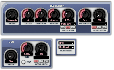 Mod Wheel  controlling the LFO Depth in Aspect