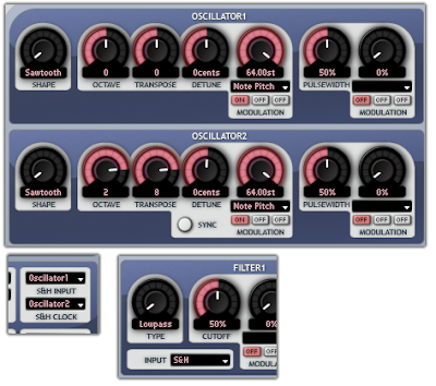Distortion via low sample rate in Aspect