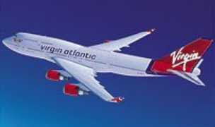 Boeing 747 in Virgin Atlantic Livery