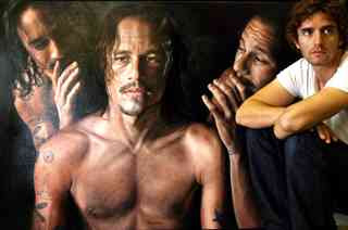 Vincent Fantauzzo - Triple Portrait of Heath Ledger plus artist (2008)
