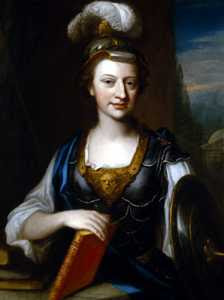 John Fayram - Elizabeth Carter as Minerva (ca 1735-41) owned by Miss Paddy Barrett