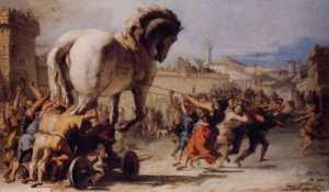 Giandomenico Tiepolo - The Trojan Horse (late 1700's)