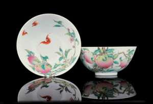 Two Chinese peach bowls (1723-1735)