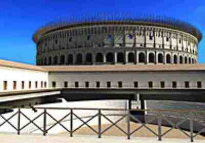 Colosseum in Ancient Rome, AD 320, from Rome Reborn (2007)