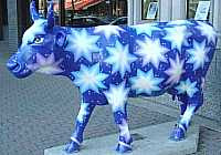 Bonnie Ouellette - Star Cow (West Hartford Cow Parade 2003)