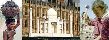 I.C. - Montage: Indian Child Labourers and Model of Taj Mahal outside the Houses of Parliament (2007)