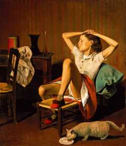 Balthus - Thérèse rêvant © The Metropolitan Museum of Art/VG Bild-Kunst Bonn 2007, Photo Malcolm Varon 1988