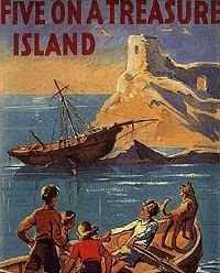 Original Book Cover Art - Five On a Treasure Island (1942)
