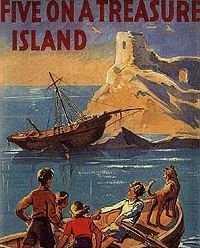 Original Book Cover Art - Five On a Treasure Island (1942)