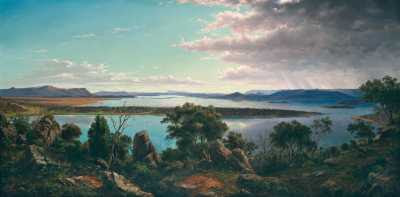 Eugène von Guérard - The Great Lake, Tasmania (1875) © Sotheby's Images