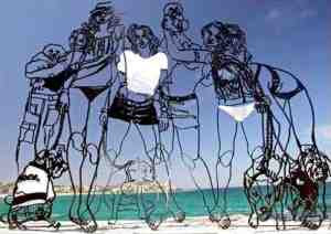 Frank Malerba - Girls with Dogs sculpture (2007)