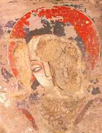 Wall-painting in Bamiyan Caves, Afghanistan