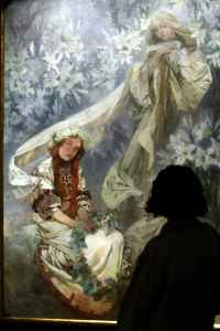 Alphonse Mucha - The Virgin of the Lillies (1905)