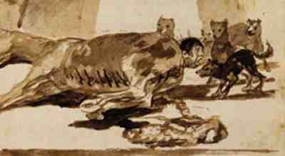 Francisco de Goya - The Constable Lampinos Stitched Inside a Dead Horse