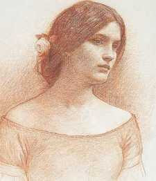 John William Waterhouse - Study for Lady Clare