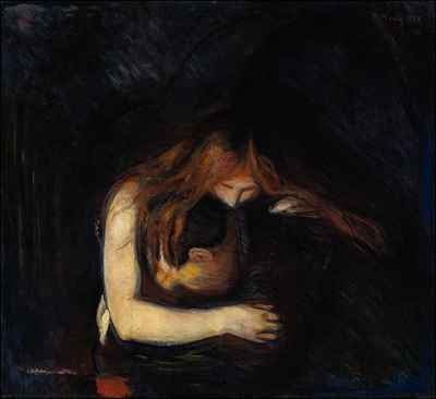 Edvard Munch - Love and Pain (1894)