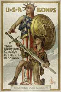 J. C. Leyendecker - Weapons for Liberty - U.S.A. Bonds (1918)
