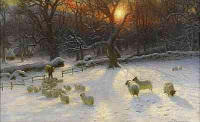 Joseph Farquharson - Beneath The Snow Encumbered Branches (ca 1901)