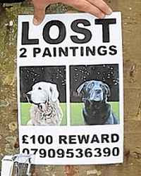 Anton Cataldo - Reward Notice for Lost Portraits of Pet Dogs (2009)