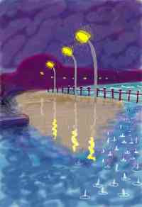 David Hockney - Rainy Night (2008)