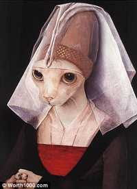 Anonymous Artist - Portrait Of A Pussy in imitation of Van Der Weyden's Portrait Of A Lady