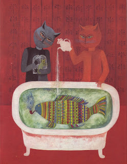 The art room plant fish in the bath illustrations by for A fish in the bathtub