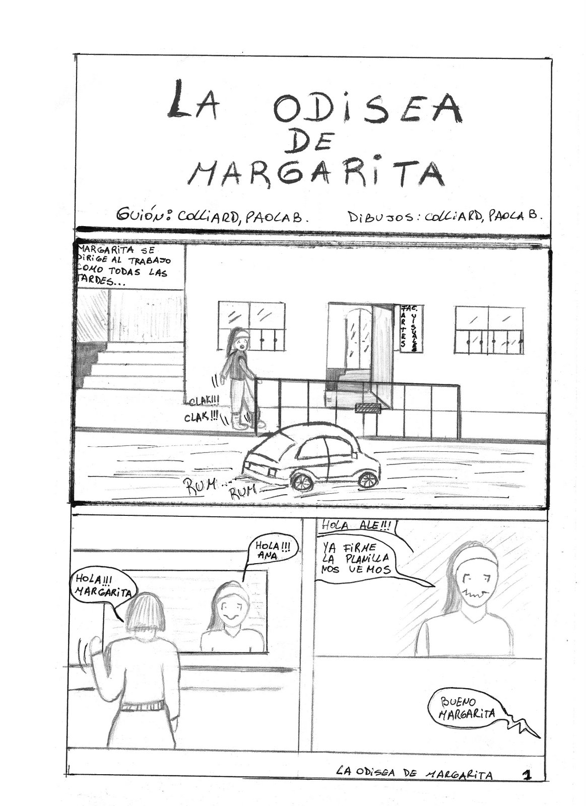 "Comic ""La odisea de Margarita"" 1"