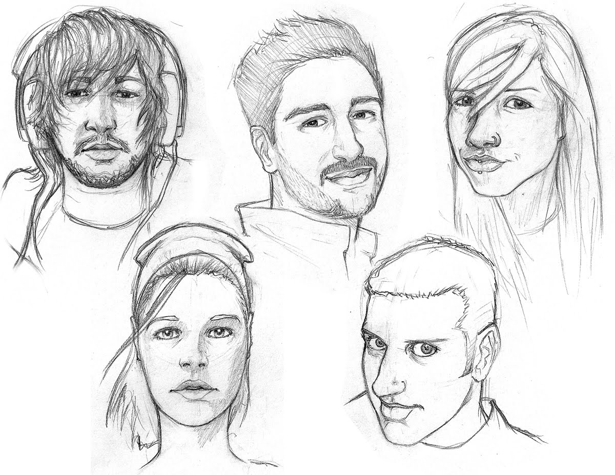Human Face Profile Drawing