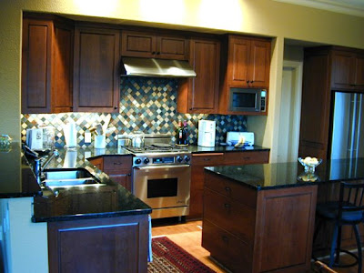 Dark Stained Cherry Kitchen