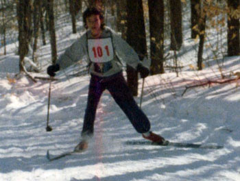 Claire cross country skiing at state meet