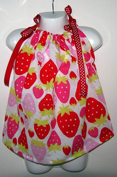 Strawberry Dress size 1-3 years $12.00
