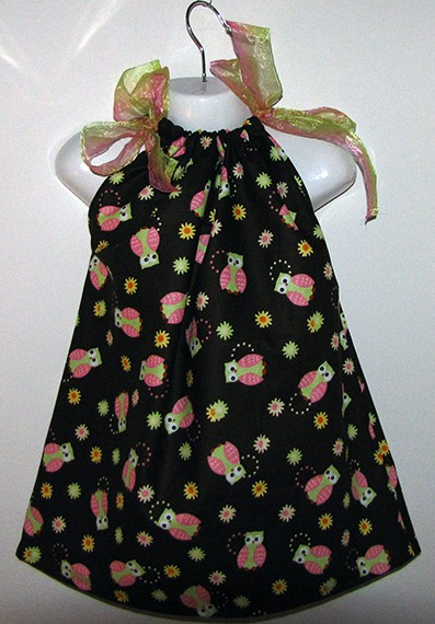 Owl Pillowcase Dress 1-4 years $15.00