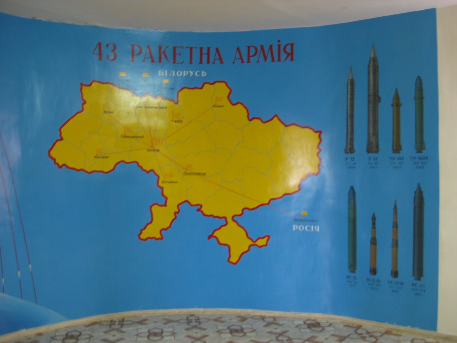 and gave us stats on a litany of missiles andrei an administrator at our school tirelessly translated the minutia as we stood and stared at paintings