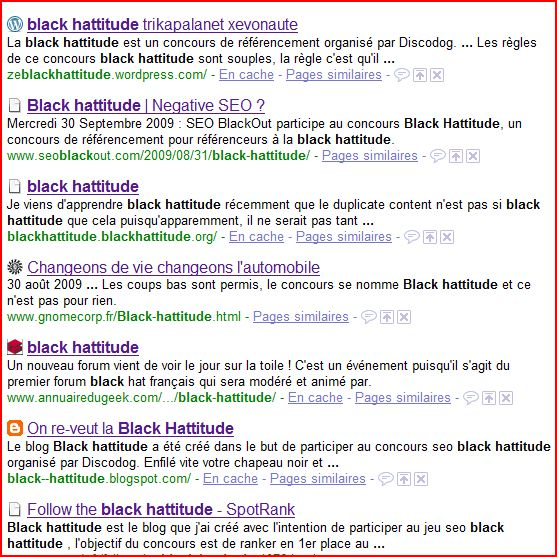 Classement black hattitude