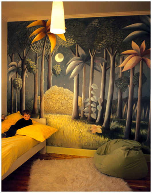 where the wild things are mural by pacquita maher. Black Bedroom Furniture Sets. Home Design Ideas