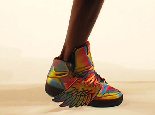 adidas high tops wings. winged Mercury high-tops.