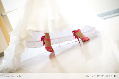 Fuchsia Wedding Shoes on Hot Pink Wedding Shoes  Liana Photography