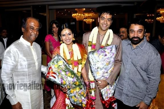 Soundarya Rajinikanth Engagement Kamal and Rajini