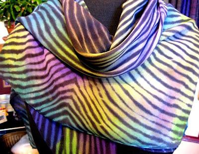 Arashi chiffon scarf