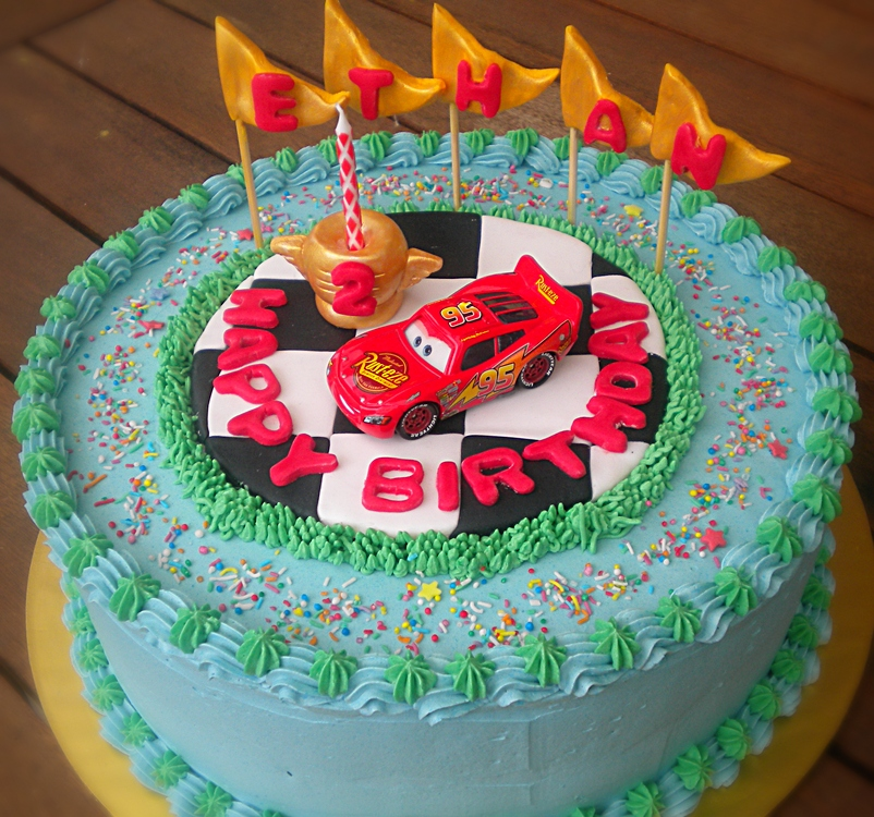 Simple Lightning Mcqueen Birthday Cake Image Inspiration of Cake