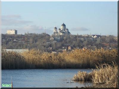 Вид на Новочеркасск с р.Аксай
