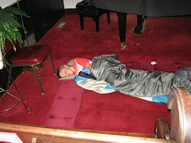 Sleeping in Sanctuary of United Methodist Church