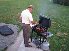 Dr Lee grilling to feed Team Jackson