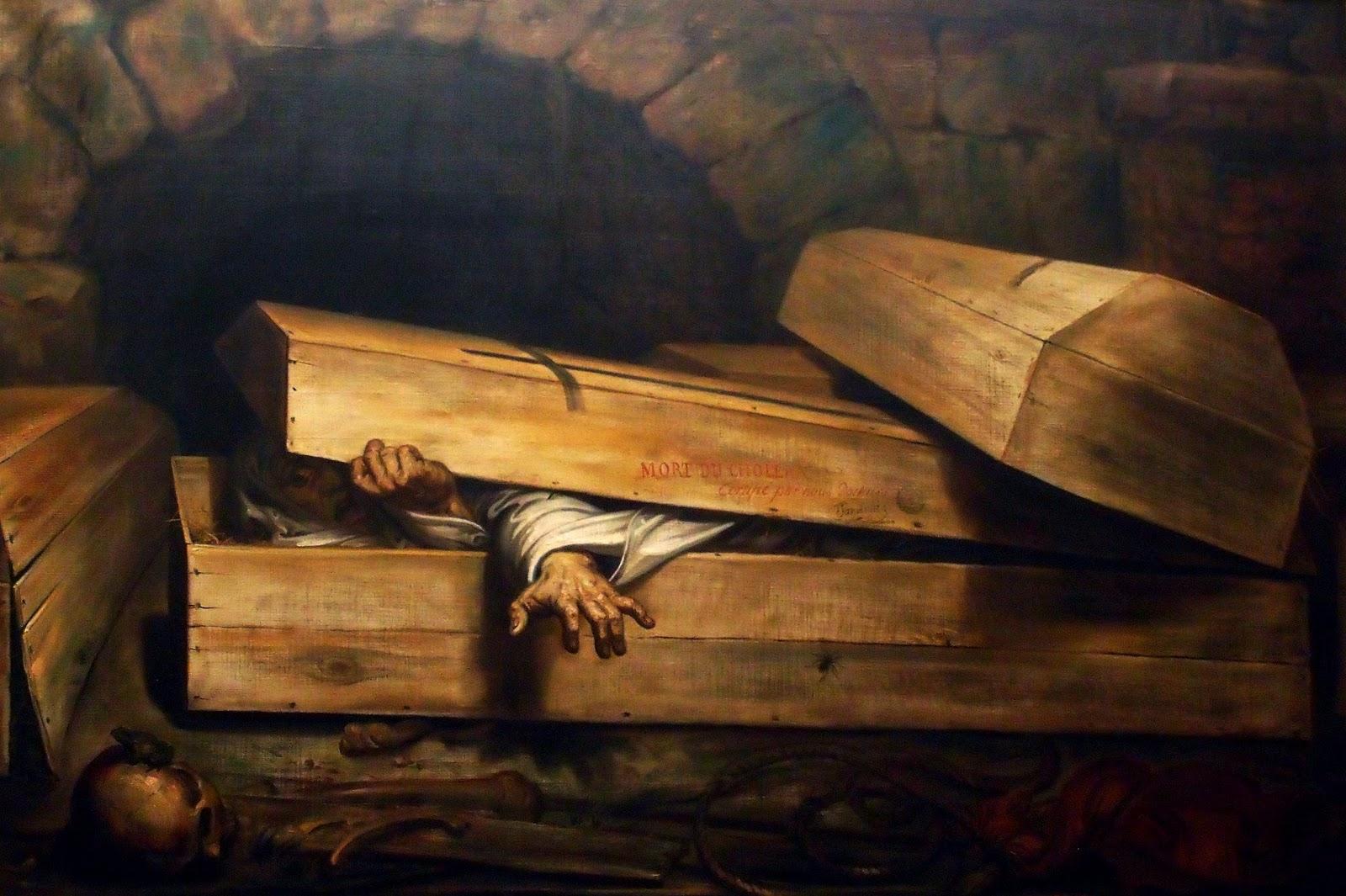 Antoine Wiertz, L'inhumation précipitée, huile sur toile, 1854,  Musée Wiertz, Bruxelles.