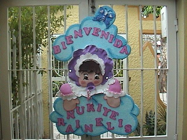 Bienvenidos para baby shower en foami - Imagui