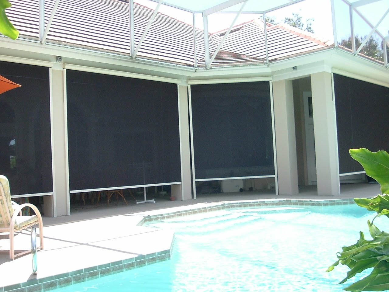 Motorized Remote Controlled Sun Screens Add Convenience While Cooling A Hot  Patio