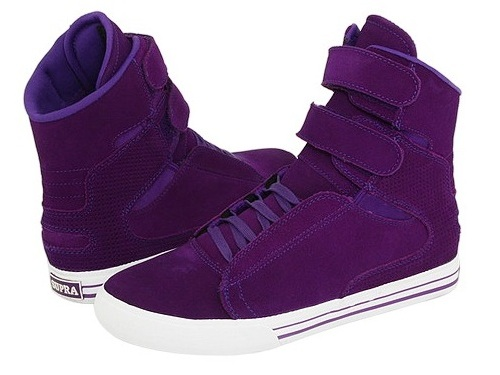supra society purple1 Justin Bieber shoes Supra high tops