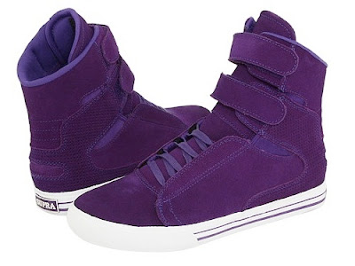 justin bieber purple supra high tops. fair to say Justin Bieber