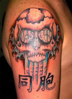 skull tattoo flash