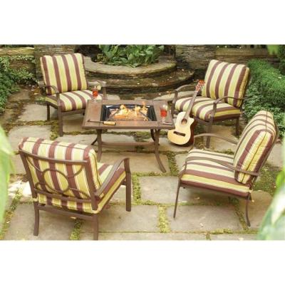 SOLD Martha Stewart Patio Set With Firepit Table   $350